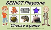 Choose a game from the SENICT Playzone