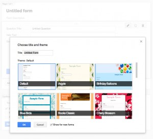 Choosing a Google Form Template