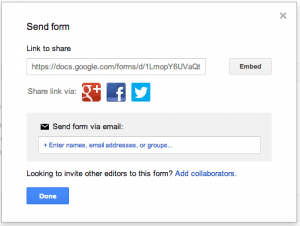Send Google Form Screenshot
