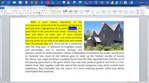 Screenshot of Read&Write Gold reading a document with dual high-lighting