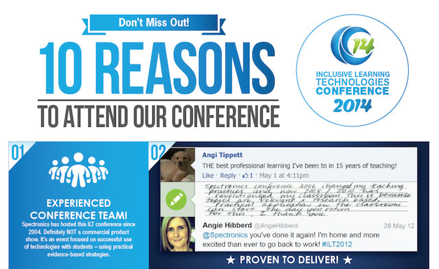 "Image of a flyer headed up ""10 Reasons to attend our conference"""