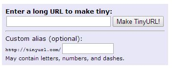 TinyURL Screenshot