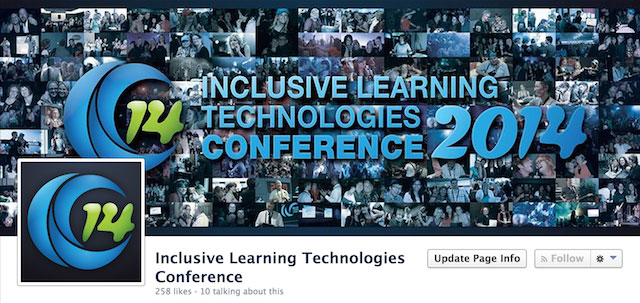 Image of the ILT2014 Conference banner and Facebook Page images