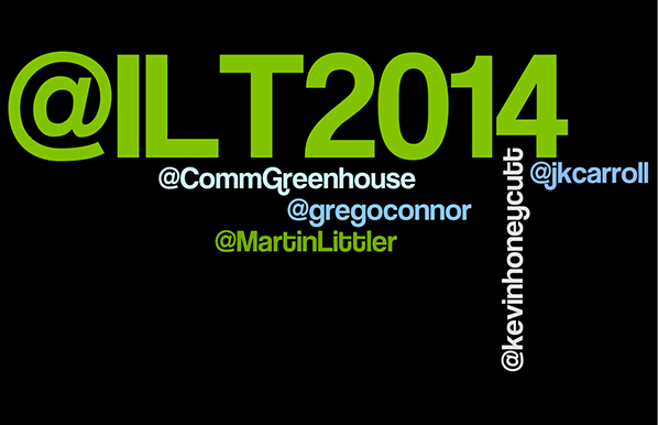 Image of Twitter names for the ILT2014 Conference Keynote Presenters
