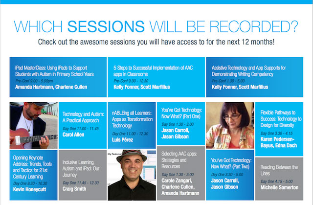 "Flyer headed ""Which Sessions will be recorded?"""