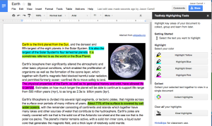 Highlighted Google Doc