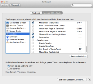 Enable Summarise on Mac Screenshot