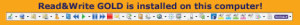 Sticker of Read&Write Gold Toolbar