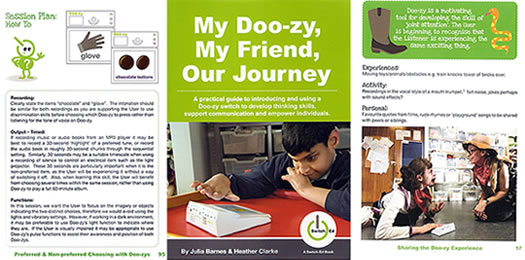 My Doo-zy, My Friend, Our Journey book cover and sample pages