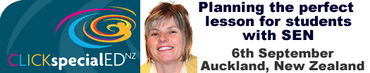 Workshop with Julie King at CLICKspecialEDNZ, 6th September 2014 Auckland, New Zealand