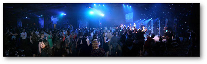 Conference delegates dancing on the dance floor at the ILT 2012 Conference Dinner event