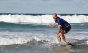 Jason Surfing just prior to  ILT2012